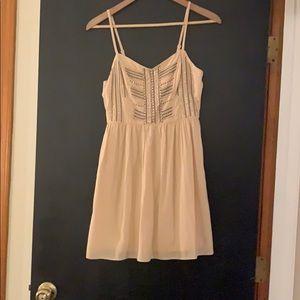 Blush and beaded skater dress